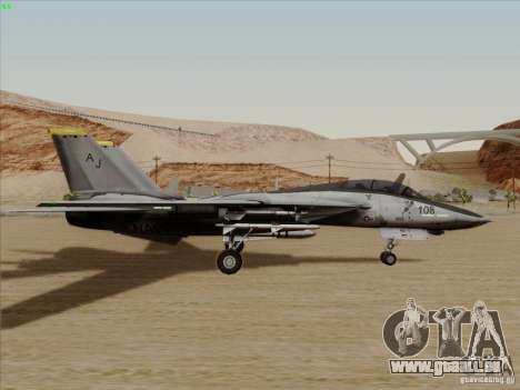 F-14 Tomcat Warwolf für GTA San Andreas zurück linke Ansicht