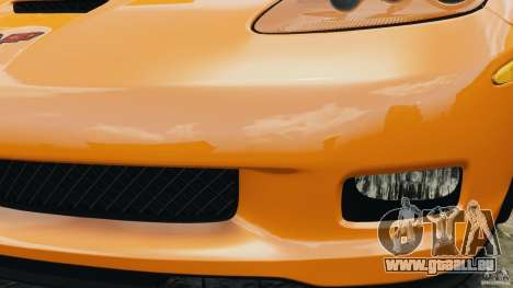 Chevrolet Corvette C6 Grand Sport 2010 pour GTA 4 est une vue de dessous