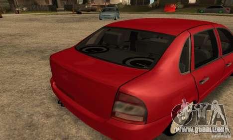 Lada 1118 Kalina pour GTA San Andreas vue de droite