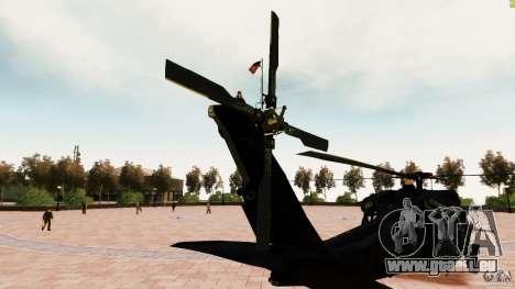 MH-60K Black Hawk pour GTA 4 Vue arrière de la gauche