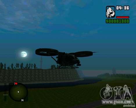 SA-2 Samson pour GTA San Andreas laissé vue