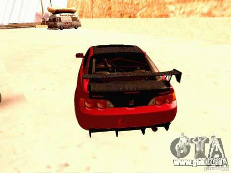 Acura RSX Drift pour GTA San Andreas sur la vue arrière gauche