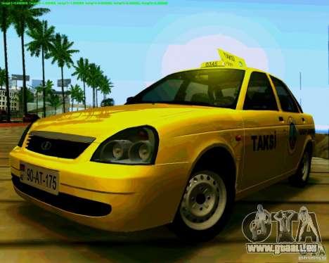 2170 LADA Priora Baki taksi pour GTA San Andreas