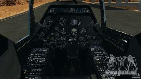 Bell AH-1 Cobra pour GTA 4 Vue arrière