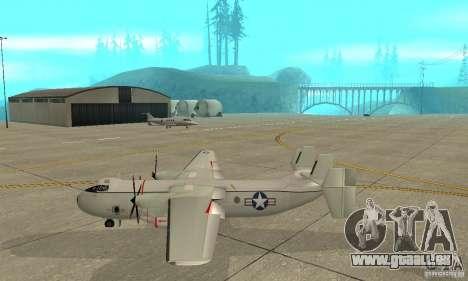 C-2 Greyhound pour GTA San Andreas laissé vue