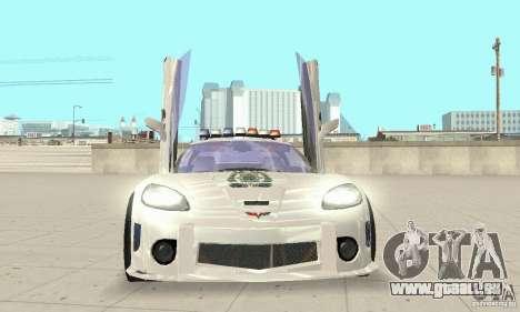 Chevrolet Corvette C6 Polizei-Sergeant Cross NFS für GTA San Andreas Rückansicht