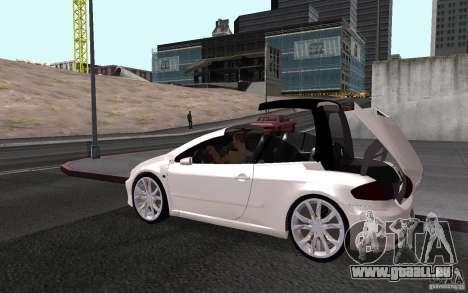 Peugeot 307CC BMS pour GTA San Andreas vue intérieure