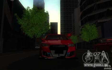 Mitsubishi Lancer EVO X drift Tune pour GTA San Andreas vue de droite