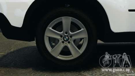 BMW X5 xDrive35d pour GTA 4 vue de dessus