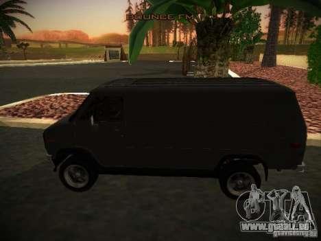 GMC Vandura pour GTA San Andreas laissé vue
