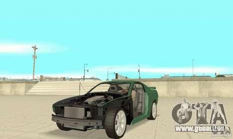 Saleen S281 v2 pour GTA San Andreas vue de dessus