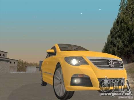 Volkswagen Passat CC pour GTA San Andreas vue intérieure