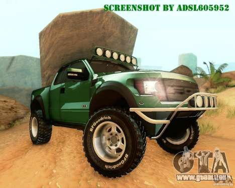 Ford F150 2011 SVT RapTor pour GTA San Andreas vue de côté