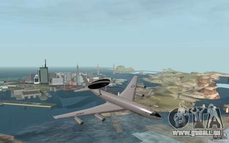Boeing E-3 Sentry pour GTA San Andreas vue de droite