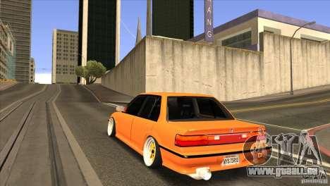 Honda Civic EF9 Sedan pour GTA San Andreas sur la vue arrière gauche