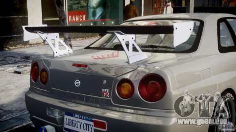 Nissan Skyline R34 Nismo pour GTA 4 roues
