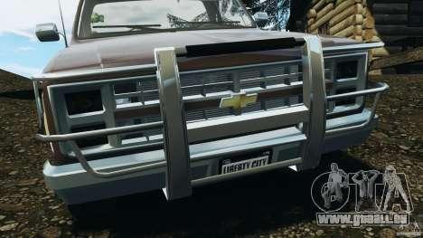 Chevrolet Silverado 1986 für GTA 4 Unteransicht