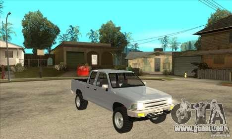 Toyota Hilux CD pour GTA San Andreas vue arrière