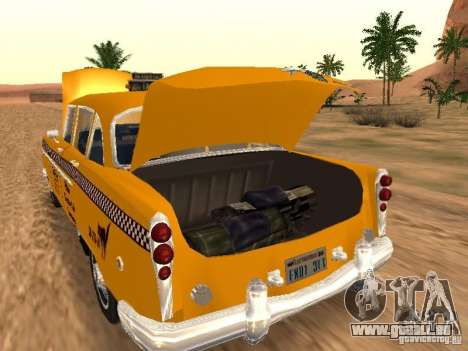 Checker Marathon Yellow CAB pour GTA San Andreas sur la vue arrière gauche