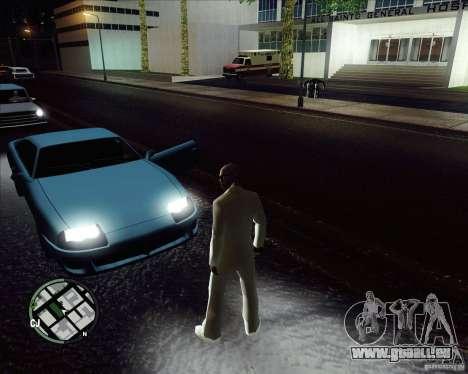 Costume blanc pour GTA San Andreas quatrième écran