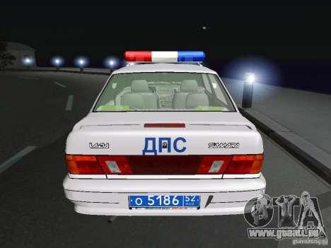 VAZ 2115 Polizei DPS für GTA San Andreas zurück linke Ansicht