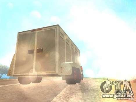 Trailer für den Chevrolet Silverado 2012 für GTA San Andreas Rückansicht