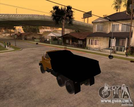 ZIL MMZ 4516 pour GTA San Andreas laissé vue
