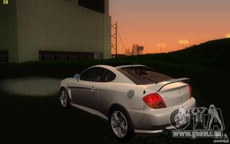 Hyundai Tiburon V6 Coupe 2003 für GTA San Andreas zurück linke Ansicht