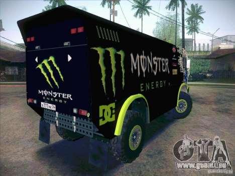 Master de KAMAZ 4911 Monster Energy pour GTA San Andreas vue de droite