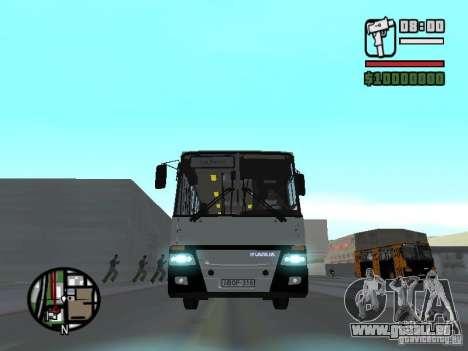 Ikarus 260.06 pour GTA San Andreas vue intérieure