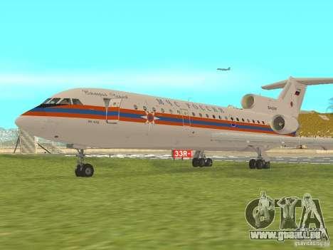 Yak-42 EMERCOM de Russie pour GTA San Andreas laissé vue