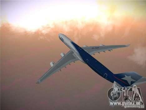 Airbus A340-600 LAN Airlines für GTA San Andreas Rückansicht