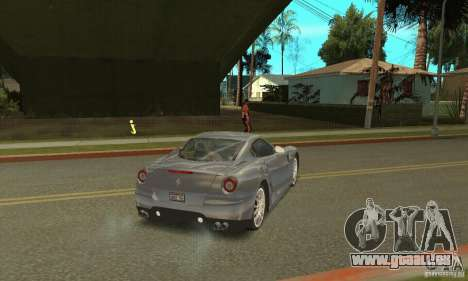 Ferrari 599 GTB Fiorano (Orange Lounge) für GTA San Andreas zurück linke Ansicht