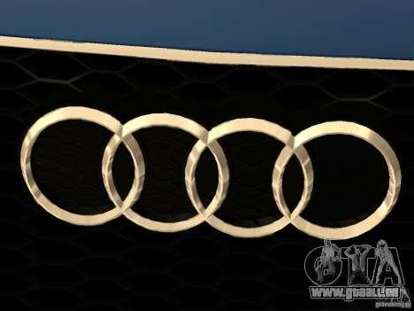 Audi TT RS pour GTA San Andreas vue de dessus