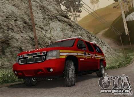 Chevrolet Suburban EMS Supervisor 862 pour GTA San Andreas vue arrière