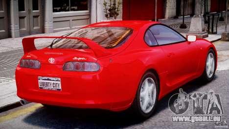 Toyota Supra MKIV 1995 v2.0 Final für GTA 4 rechte Ansicht