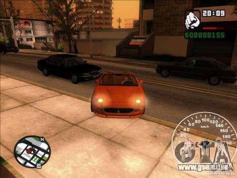 Spyder Cambriocorsa für GTA San Andreas Seitenansicht
