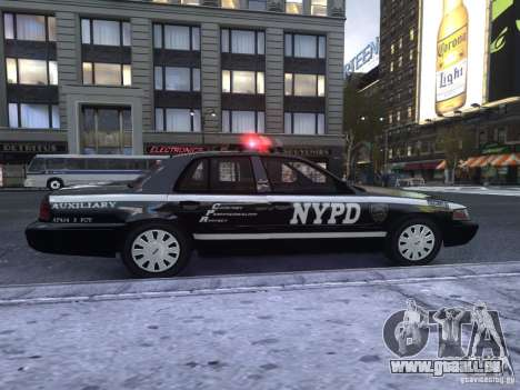 Ford Crown Victoria NYPD Auxiliary für GTA 4 hinten links Ansicht