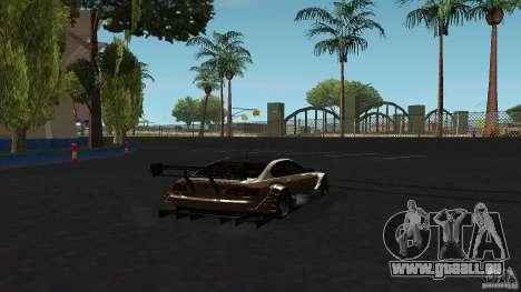 BMW E92 M3 für GTA San Andreas zurück linke Ansicht