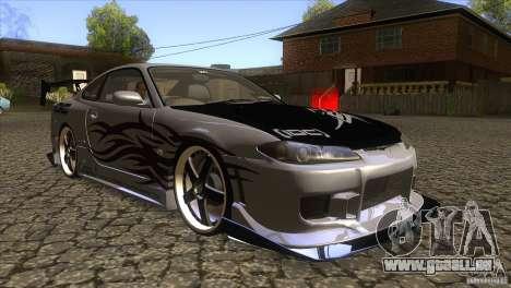 Nissan Silvia S15 Logan pour GTA San Andreas vue arrière