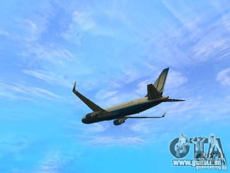 Boeing 767-300 United Airlines New Livery pour GTA San Andreas vue arrière