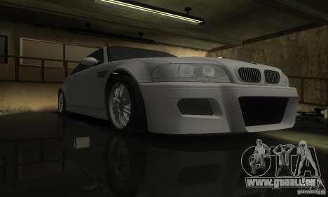 BMW M3 Tuneable pour GTA San Andreas vue arrière