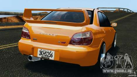 Subaru Impreza WRX STI 2005 pour GTA 4 Vue arrière de la gauche