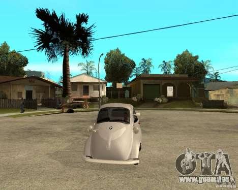 BMW Isetta pour GTA San Andreas vue arrière