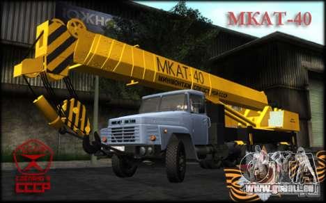 MKAT-40 issu de Kraz-250 pour GTA San Andreas sur la vue arrière gauche