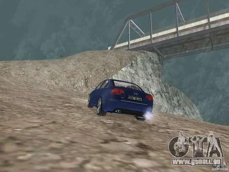 Audi S6 pour GTA San Andreas sur la vue arrière gauche