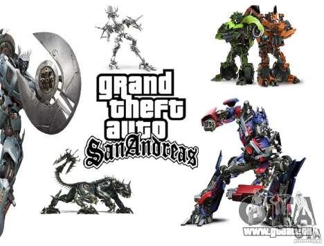 Boot-Images im Stil von Transformatoren für GTA San Andreas