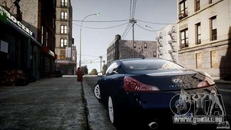 Infiniti G37 Coupe Sport pour GTA 4 est un droit