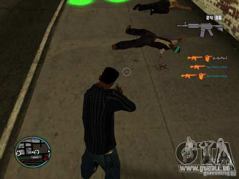 KILL LOG pour GTA San Andreas quatrième écran