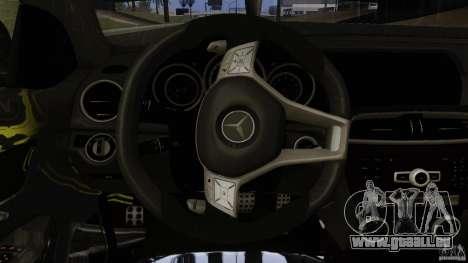 Mercedes Benz C63 AMG Black Series 2012 pour GTA San Andreas vue de dessous